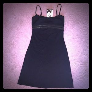 NWT Betsey Johnson LBD with transparent panel sz L